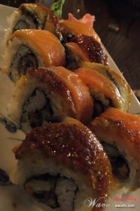 Smoked Salmon and Unagi Maki