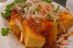 Bean curd in Thai style