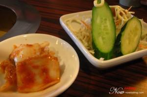 Salad and Kimuchi