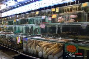 Seafood display area